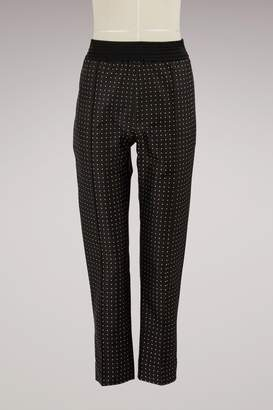 Haider Ackermann High-Waisted Silk Pants