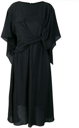 Chalayan cape tie dress