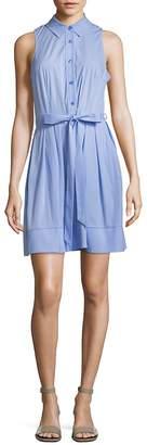 Milly Women's Sleeveless Pleated Shirt Dress