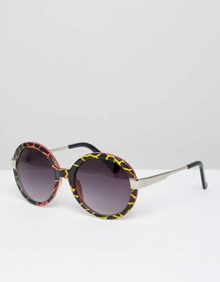 Jeepers Peepers Tort Frame Oversized Sunglasses
