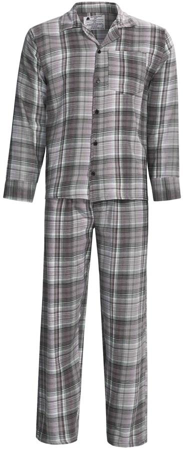 Northwest Blue Flannel Pajamas - Long Sleeve (For Men)