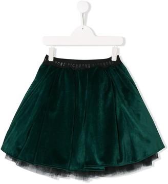 John Richmond Junior TEEN velvet-effect skirt