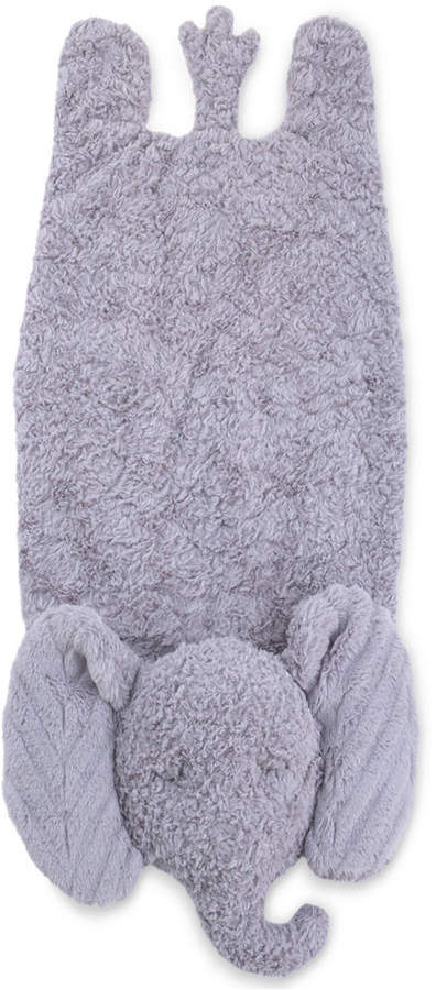 Cuddle Me Luxury Plush Tummy Time Mat Blanket Grey Elephant Bedding