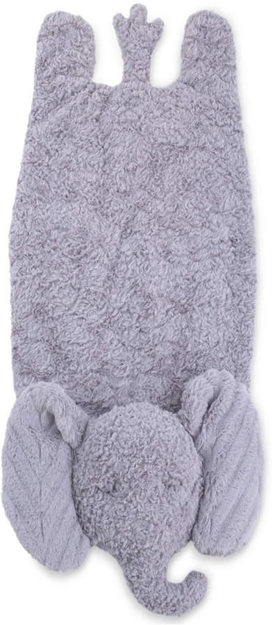 Cuddle Me Luxury Plush Tummy Time Mat Blanket Grey Elephant Bedding