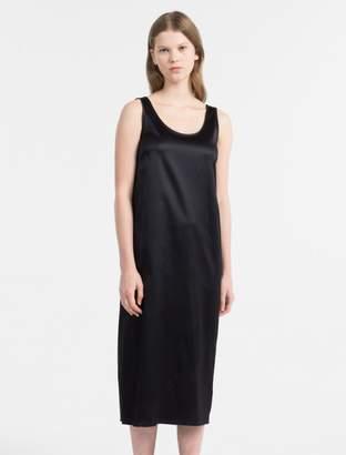 Calvin Klein satin jersey midi dress