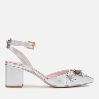 Ted Baker Women's Odesca Floral Embellished Block Heeled Sandals