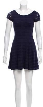 Aqua Short Sleeve Mini Dress
