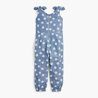 J.Crew Girls' jumpsuit in daisy-print chambray