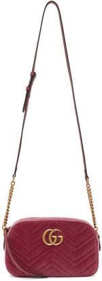 Gucci Pink Velvet GG Marmont 2.0 Camera Bag