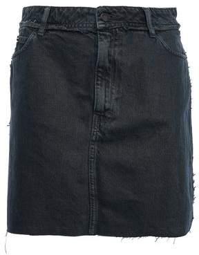 IRO Cafe Frayed Denim Mini Skirt