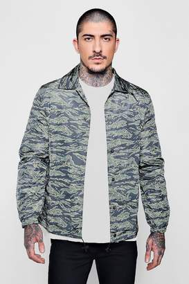 boohoo Tiger Camo Coach Jacket