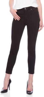 Free People Black Roller Crop Skinny Jeans