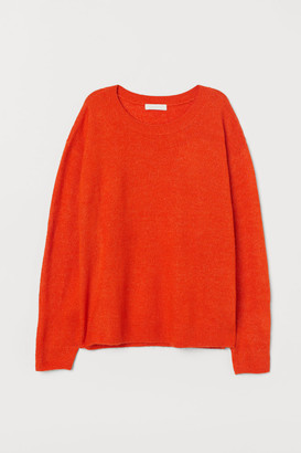H&M H&M+ Knit Sweater - Orange