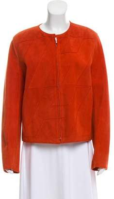 Hermes Suede Zip-Up Jacket
