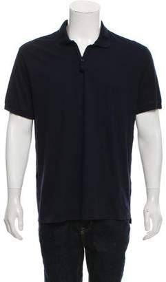Lanvin Woven Polo Shirt