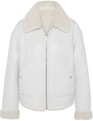 McQ Reversible Shearling Jacket - Ivory