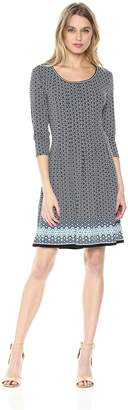 Max Studio MAXSTUDIO Women's Printed Pleated Dress
