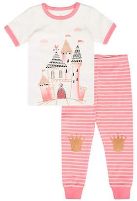 Petit Lem Castle Print Cotton Pyjamas