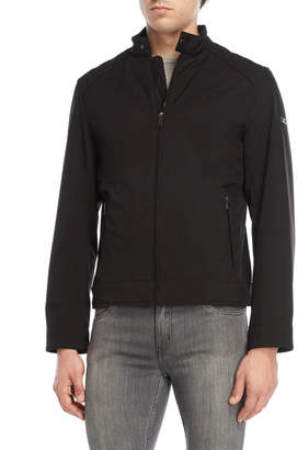 Michael Kors Black Softshell Moto Jacket