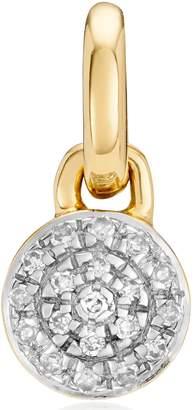 Monica Vinader Fiji Button Diamond Pendant Necklace