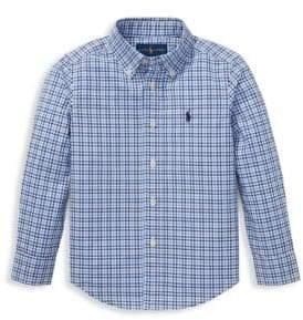 Ralph Lauren Little Boy's Plaid Button-Down Shirt