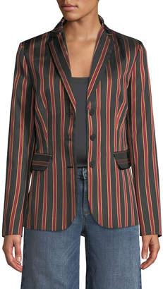 Tomas Maier Striped Button Front Blazer