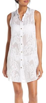 Lilly Pulitzer Natalie Cover-Up Sleeveless Shirtdress