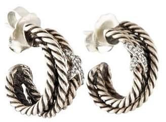 David Yurman Diamond Crossover X Earrings