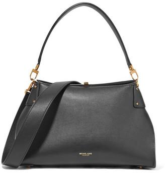 Michael Kors Collection - Miranda Leather Shoulder Bag - Black $990 thestylecure.com