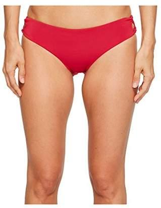 Roxy Women's Strappy Love 70s Pant Lace up Bikini Bottom