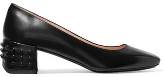 Tod's Studded Leather Pumps - Black