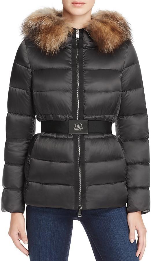MonclerMoncler Tatie Fur Hood Short Down Coat