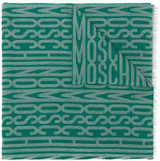 Moschino Pre-Owned frayed logo scarf