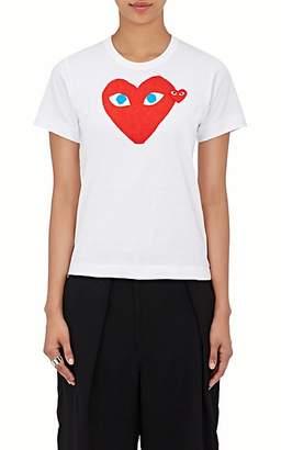 Comme des Garcons Women's Heart Cotton T-Shirt - White