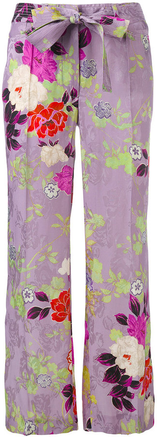 EtroEtro floral flared trousers