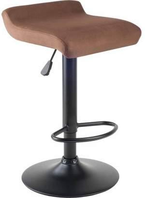 Winsome Wood Marni Air Lift Adjustable Microfiber Swivel Seat Stool