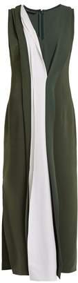 CARL KAPP Safari bi-colour stretch-cady dress
