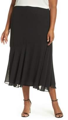 Alex Evenings Pleated Chiffon Midi Skirt