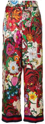 Gucci floral print trousers