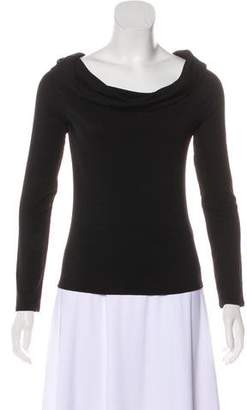 The Row Long Sleeve Cowl Neck Top