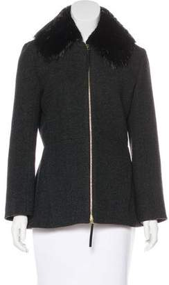 Marni Wool Fur-Trimmed Jacket