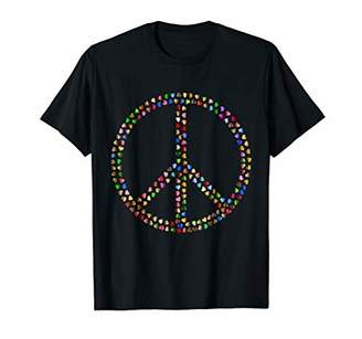 Psychedelic Hearts Funky Peace Sign t-shirt