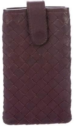 Bottega Veneta Leather Intrecciato Phone Case