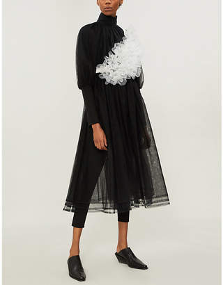 Noir Kei Ninomiya Juliet-sleeved layered tulle dress