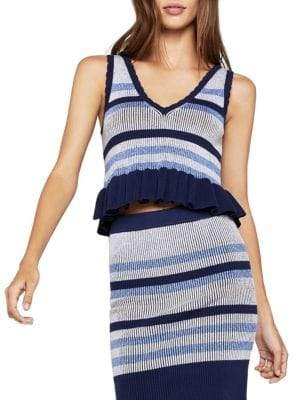 BCBGeneration Striped Knit Sleeveless Top