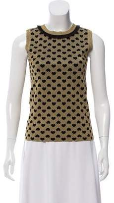Gucci Patterned Metallic Knit Top