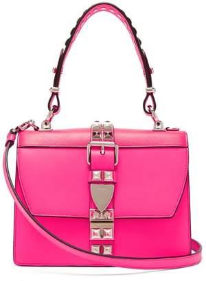 Prada Elektra Studded Leather Shoulder Bag - Womens - Pink