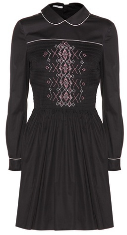 Miu Miu Miu Miu Embroidered cotton dress