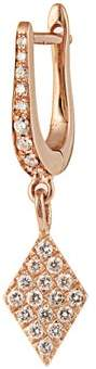 Diane Kordas Diamond & Rose Gold Kite Earring - Womens - Rose Gold