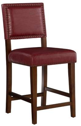 "Linon Brook 24"" Counter Stool Wood Home Décor"